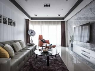 Salas modernas de 湘頡設計 Moderno