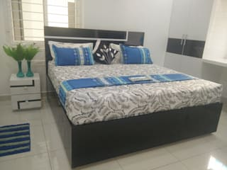 3BHK Aparna Cyberzone E Block 1440sqft Turn Key project Modern style bedroom by Enrich Interiors & Decors Modern