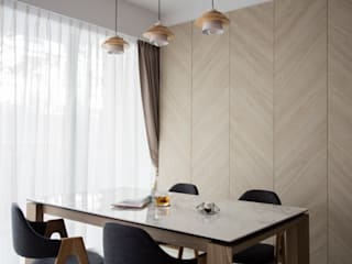 Scandinavian style dining room by Eightytwo Pte Ltd Scandinavian