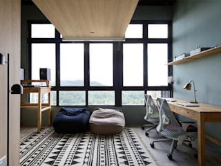ECOSANCTUARY Rustic style study/office by Eightytwo Pte Ltd Rustic