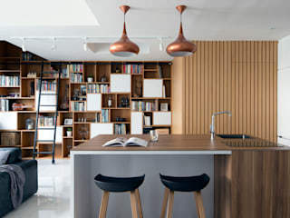 KING ALBERT PARK RESIDENCES Scandinavian style dining room by Eightytwo Pte Ltd Scandinavian