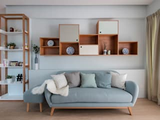 THE STELLAR Scandinavian style living room by Eightytwo Pte Ltd Scandinavian