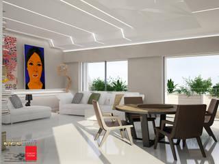 Appartamento privato 2: Soggiorno in stile  di MELLINACORTISTUDIO
