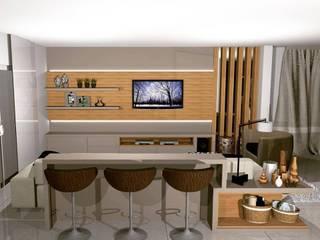 Projeto Espaço Churraqueira: Salas de estar  por D´Rocha Móveis sob Medida,