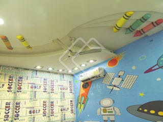 KIDS ROOM (Theme based Ceiling):  Bedroom by CREDENCE INTERIO