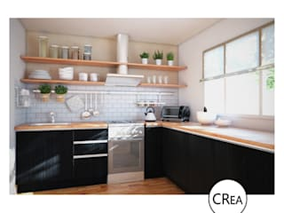 Cocina Pampa de CRea - Arquitectura + Diseño