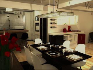 Sala de Jantar: Salas de jantar  por Yara Interiores