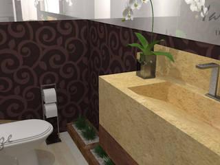 Lavabo: Banheiros  por Yara Interiores