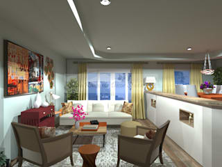 : Livings de estilo  por SilviaKarounos Decor Studio