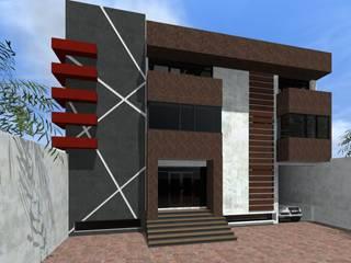 Fachada: Edificios de Oficinas de estilo  por HC Arquitecto