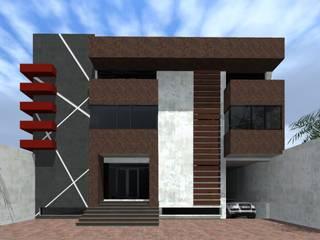 Fachada Principal: Edificios de Oficinas de estilo  por HC Arquitecto