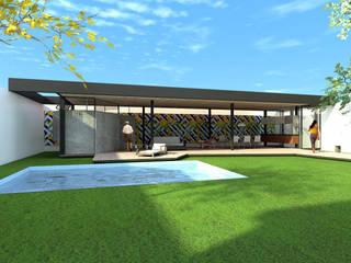 Piscines privées de style  par ODVO Arquitetura e Urbanismo, Moderne