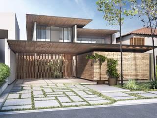 Residência SAA: Casas familiares  por MSPM Arquitetura & Design,Moderno