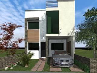 Fachada Principal : Casas de estilo  por HC Arquitecto