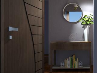 : Pasillos y recibidores de estilo  por SilviaKarounos Decor Studio