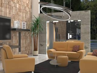Sala : Salas de estilo  por HC Arquitecto