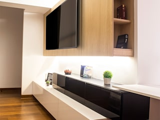 3 SOLID - Mueble TV:  de estilo  por Chetecortés ,