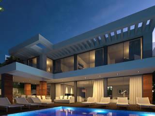CASA JA1 - Moradia no Estoril - Projeto de Arquitetura: Moradias  por Traçado Regulador. Lda,Moderno
