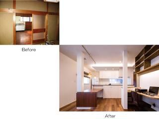 岩出の改修: Studio REI 一級建築士事務所が手掛けたリビングです。