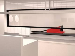 Escalier de style  par DIEGO ALARCÓN & MANUEL RUBIO ARQUITECTOS LIMITADA, Moderne