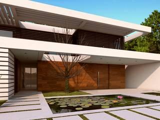 CASA SG1 - Moradia na Herdade da Aroeira - Projeto de Arquitetura: Moradias  por Traçado Regulador. Lda,Moderno