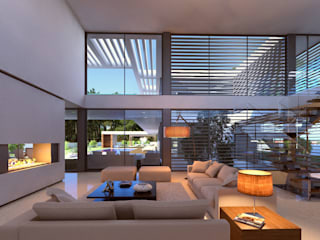 Modern living room by Traçado Regulador. Lda Modern Stone