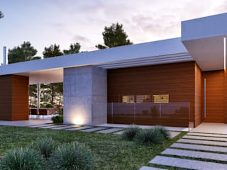 CASA MP1 - Moradia na Herdade da Aroeira - Projeto de Arquitetura: Moradias  por Traçado Regulador. Lda,Moderno