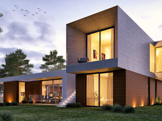 CASA MP1: Casas modernas por Traçado Regulador. Lda