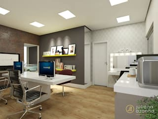 Bureau moderne par Juliana Azanha | Arquitetura e Interiores Moderne