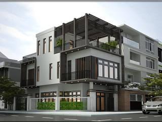 Casas modernas de công ty cổ phần Thiết kế Kiến trúc Việt Xanh Moderno