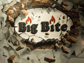 3d-пролом для кафе Big Bite: Бары и клубы в . Автор – Allover Graphics,