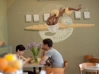 Кафе Bon Pain: Бары и клубы в . Автор – Allover Graphics,