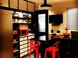 Cocina Vintage contemporanea: Muebles de cocinas de estilo  por PICHARA + RIOS arquitectos