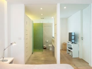 Baño / Principal Baños de estilo minimalista de AWA arquitectos Minimalista Madera Acabado en madera