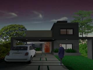 Render fachada frontal: Casas de estilo  por PIC Arquitectura