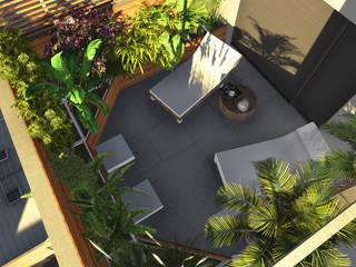Aida tropeano& Asociados Modern Garden Wood Multicolored