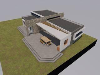 Primeras imágenes de Casa-Quincho:  de estilo  por Área Urbana Arquitectos SpA