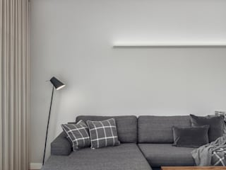 Dwupoziomowy apartament w Gdańsku: styl , w kategorii  zaprojektowany przez Studio Potorska