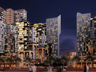 Al-Manhal Gate Towers - Abu Dhabi, UAE by SPACES Architects Planners Engineers Modern