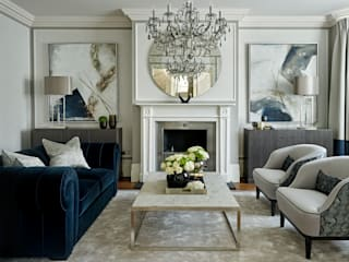 Salon de style  par Tailored Living Interiors, Moderne
