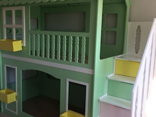 Moremo Mobilya Tasarım – Montessori Yıldızlı Ranza:  tarz Genç odası