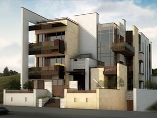 Akram Junaildi Villa - Amman, Jordan Modern Houses by SPACES Architects Planners Engineers Modern