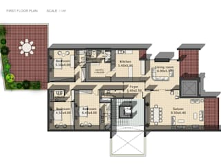 Akram Junaildi Villa - Amman, Jordan Modern Walls and Floors by SPACES Architects Planners Engineers Modern