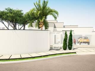Arantes Arquitetura Minimalistische Häuser Ziegel Weiß
