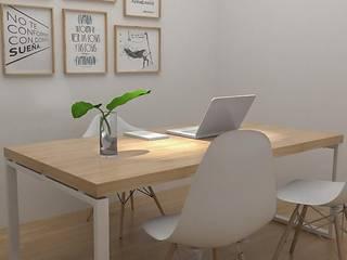 Obra Libertador - Diseño integral Consultorio Psicologico: Estudios y oficinas de estilo  por Bhavana