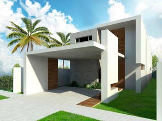 Vista de Calle: Casas unifamiliares de estilo  por Facere Arquitectura