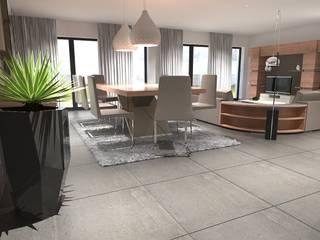 Moradia Moderna: Salas de jantar  por CB | Interior Design