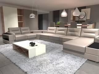 Moradia Moderna: Salas de estar  por CB | Interior Design