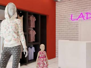 Local Plaza Textil Metropolitana: Espacios comerciales de estilo  por Mon Arquitectos