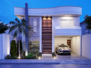 Casas de estilo minimalista de Camila Pimenta | Arquitetura + Interiores Minimalista